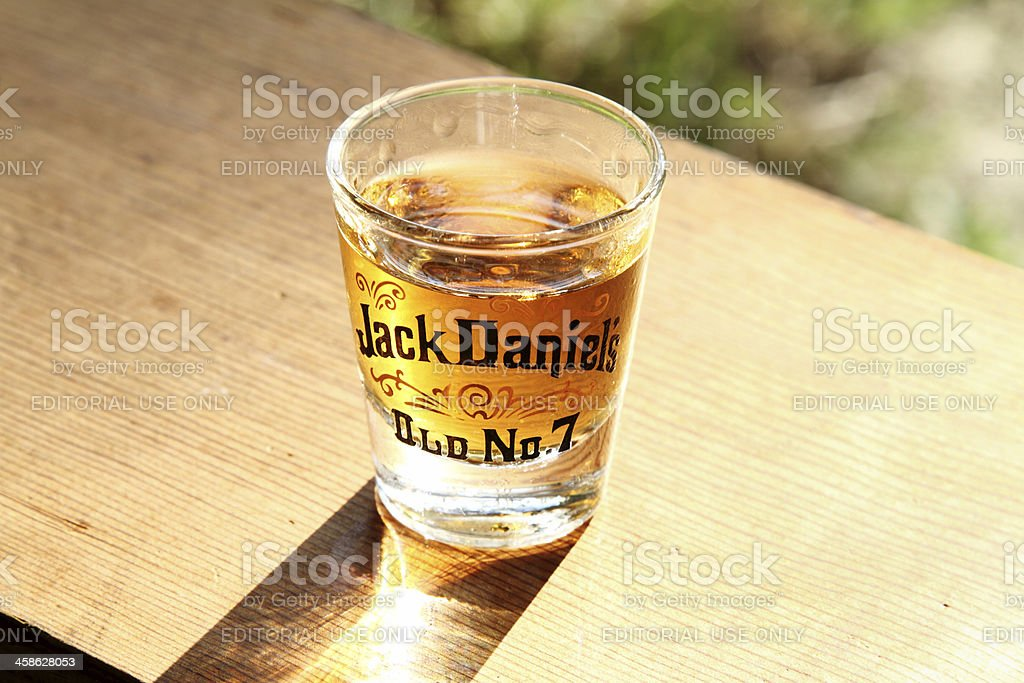 Jack Daniels Old No 7 Whiskey stock photo