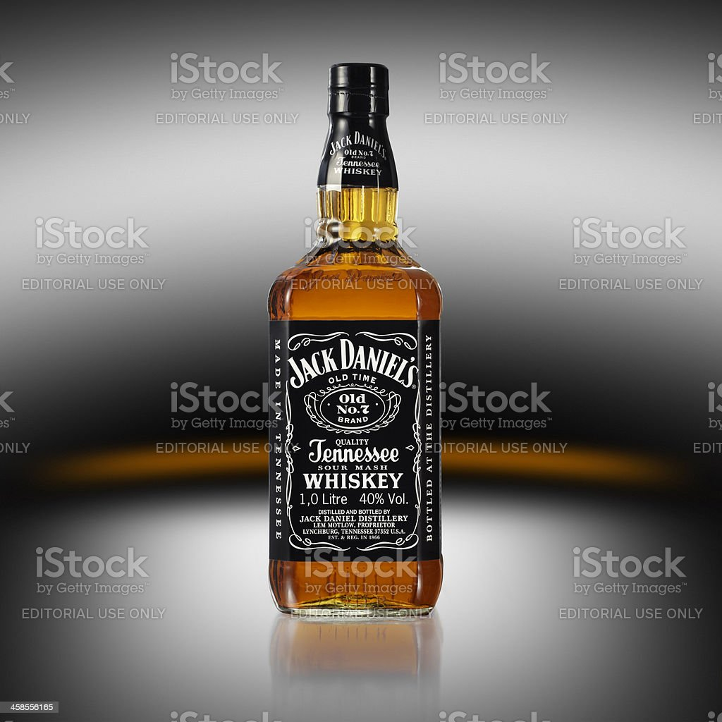 Jack Daniel's whiskey bottle royalty-free stock photo