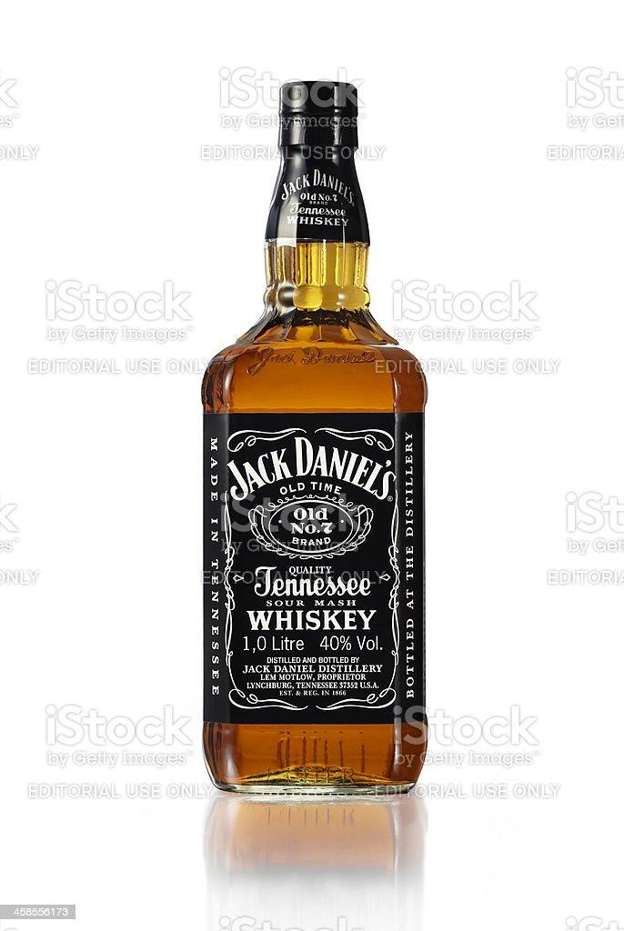 Jack Daniel's whiskey bottle stock photo