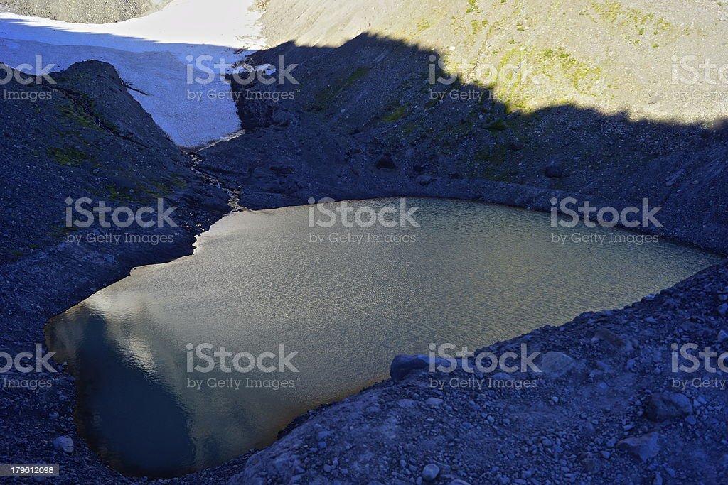 Jack Glacier Lake royalty-free stock photo