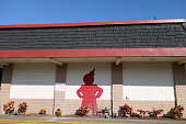 Jack in the Box Restaurant exterior with a Red Jack