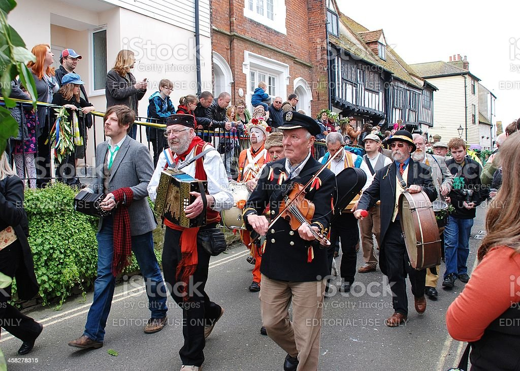 Jack In The Green festival, Hastings royalty-free stock photo