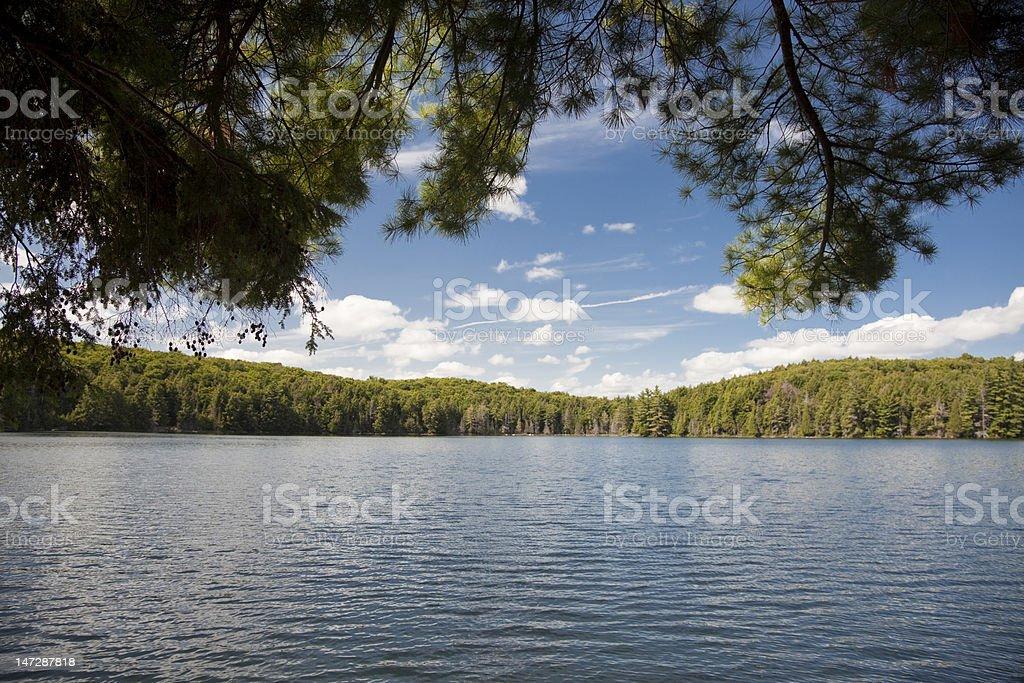 Jack Lake, Algonquin stock photo