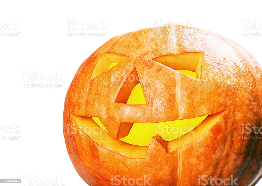Jack lantern pumpkin for Halloween stock photo