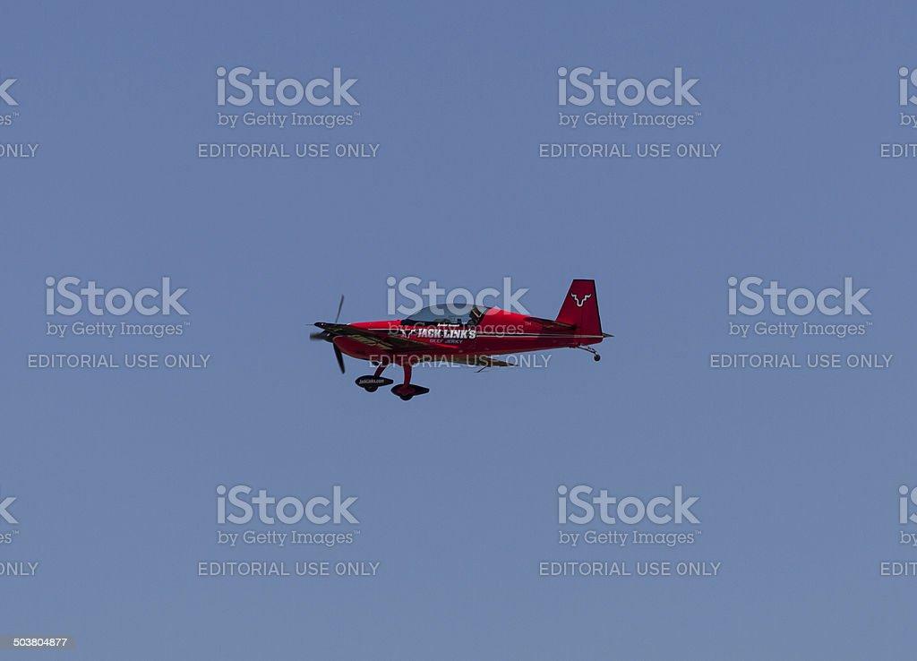 Jack Links Aerobatic Plane Screamin' Sasquatch stock photo