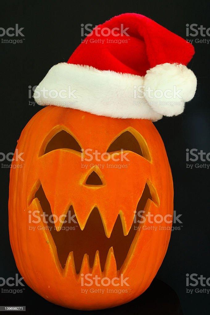 Jack O Lantern Santa Claus royalty-free stock photo