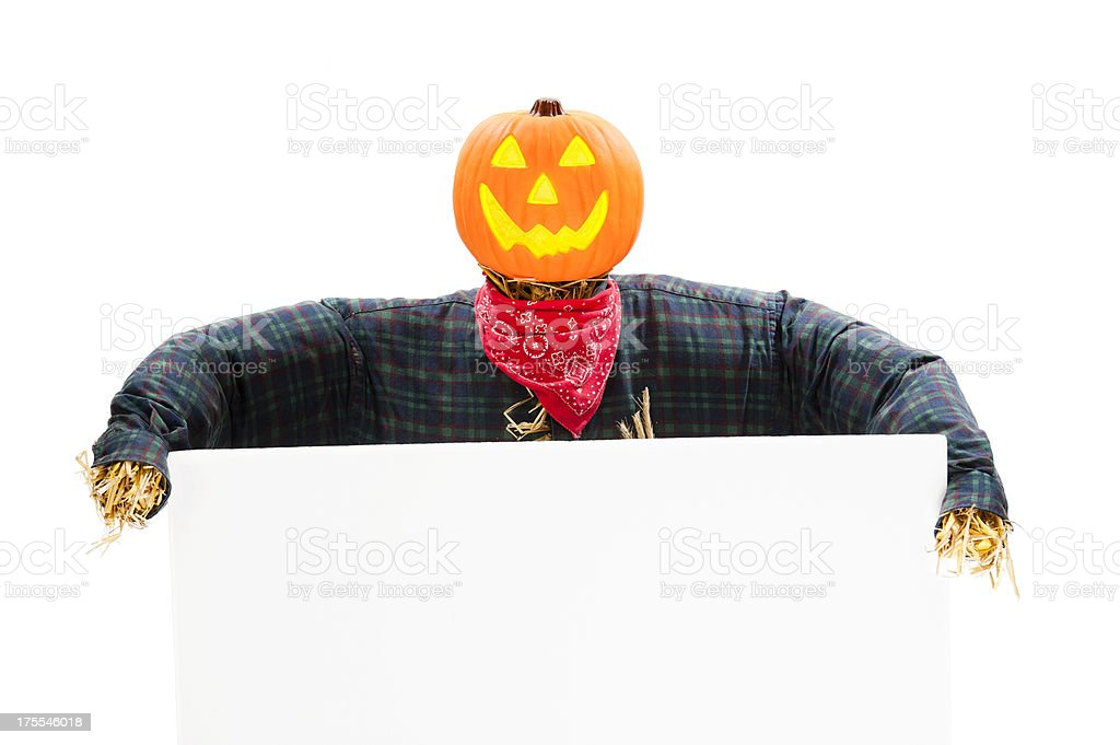 Jack O' Lantern Scarecrow royalty-free stock photo
