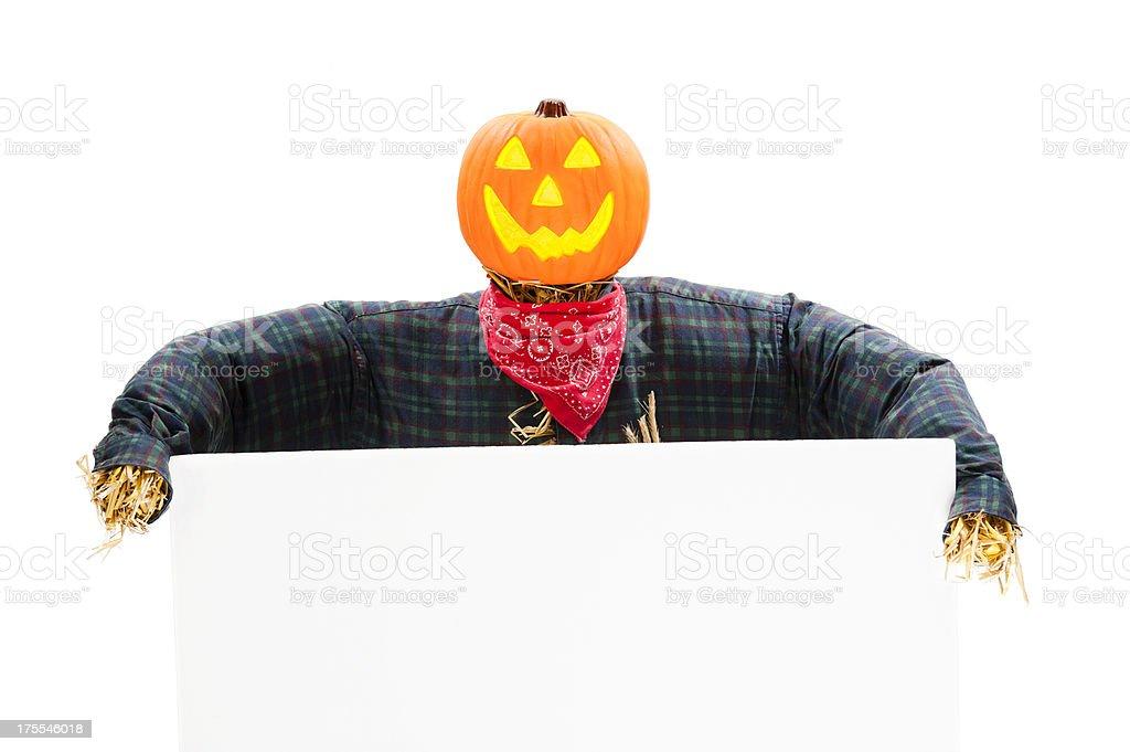 Jack O' Lantern Scarecrow stock photo