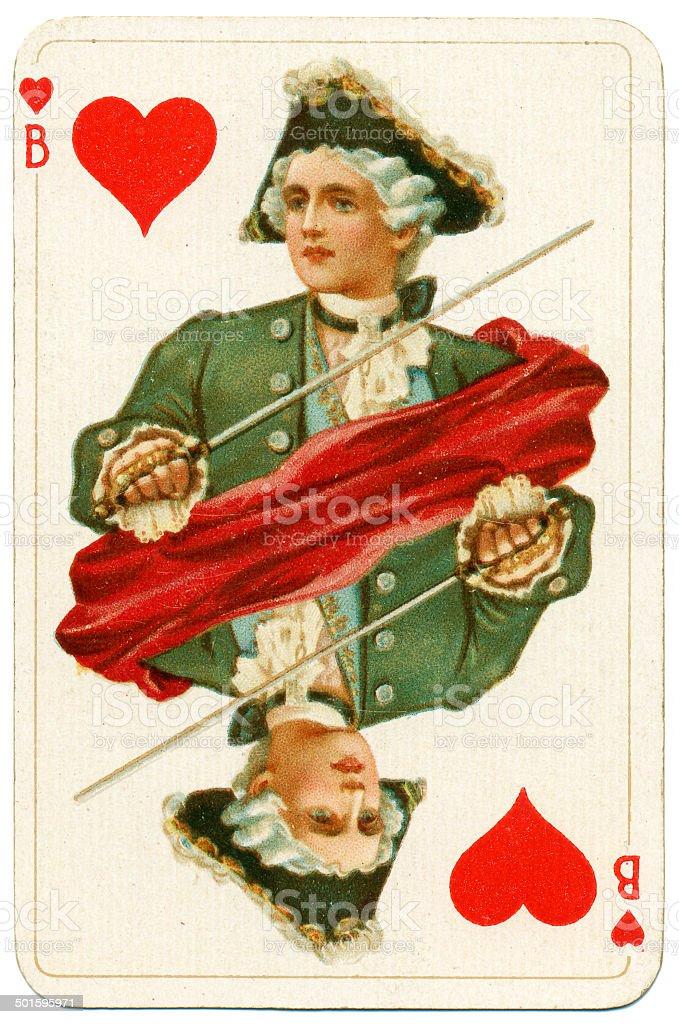 Jack of Hearts Dondorf Baronesse piquet 1900 stock photo