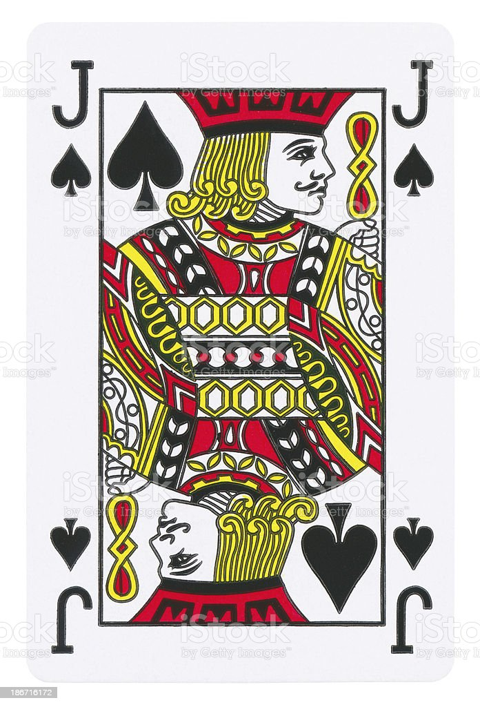 Jack Of Spades Isolated (clipping path included) royalty-free stock photo