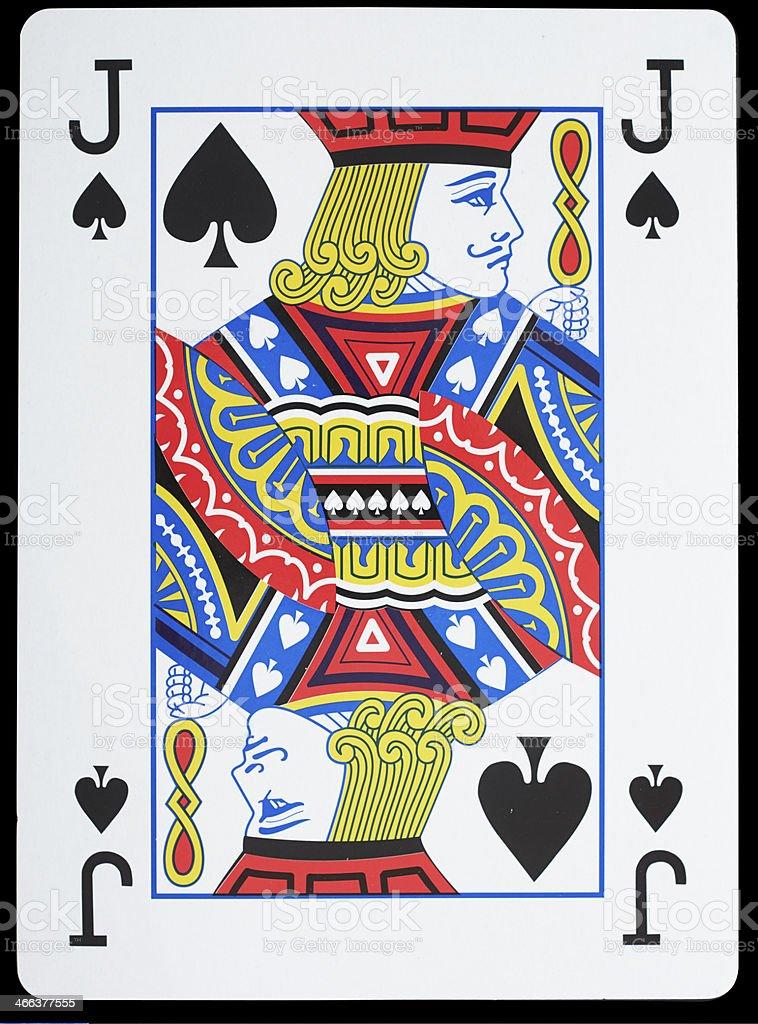 Jack of Spades stock photo
