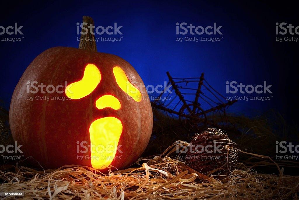 jack o'lantern stock photo