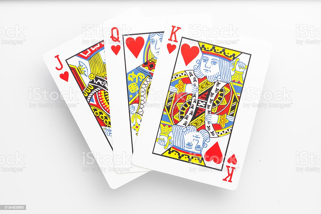 Jack Queen King Cards stock photo