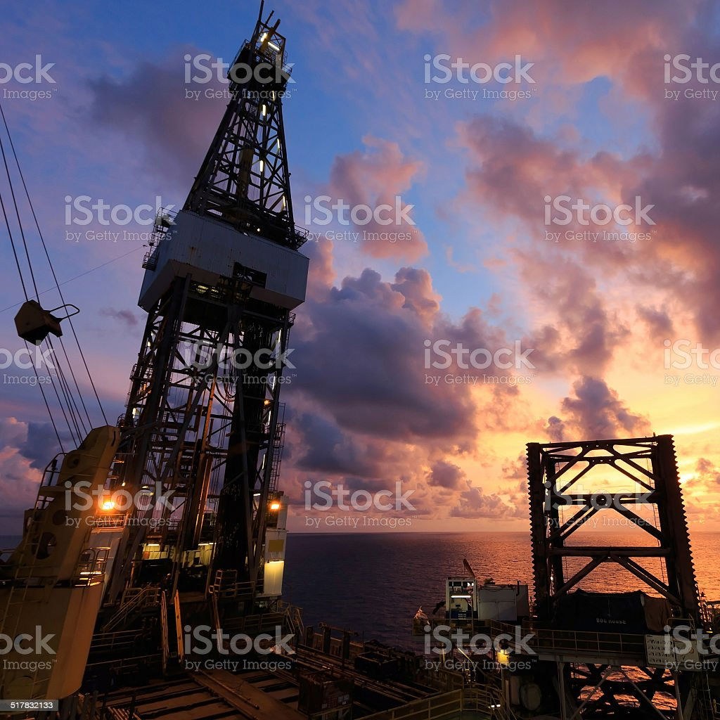Jack Up Oil Drilling Rig stock photo