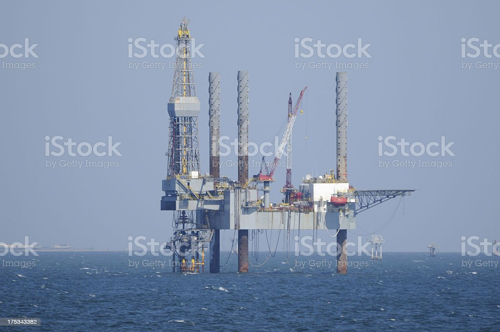 Jack up oil rig royalty-free stock photo