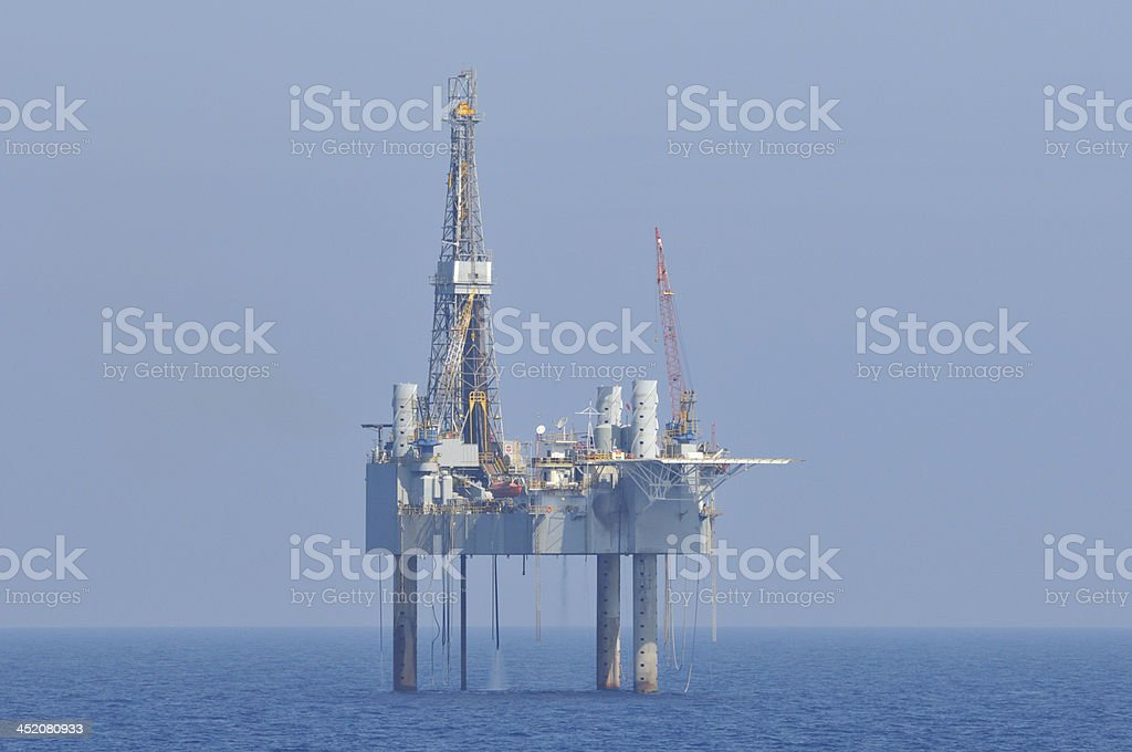 Jack up oil rig stock photo