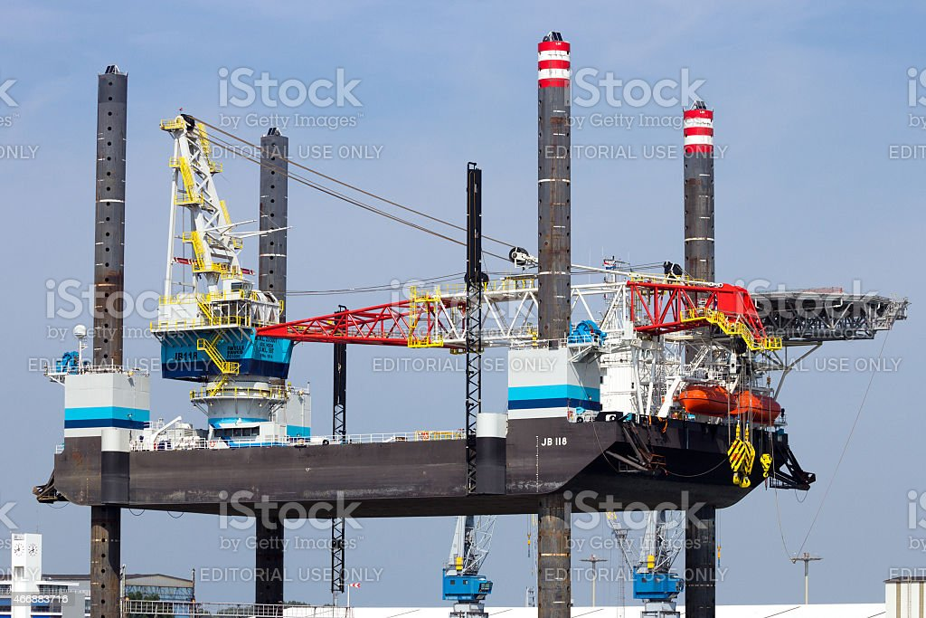 Jack up Rig stock photo