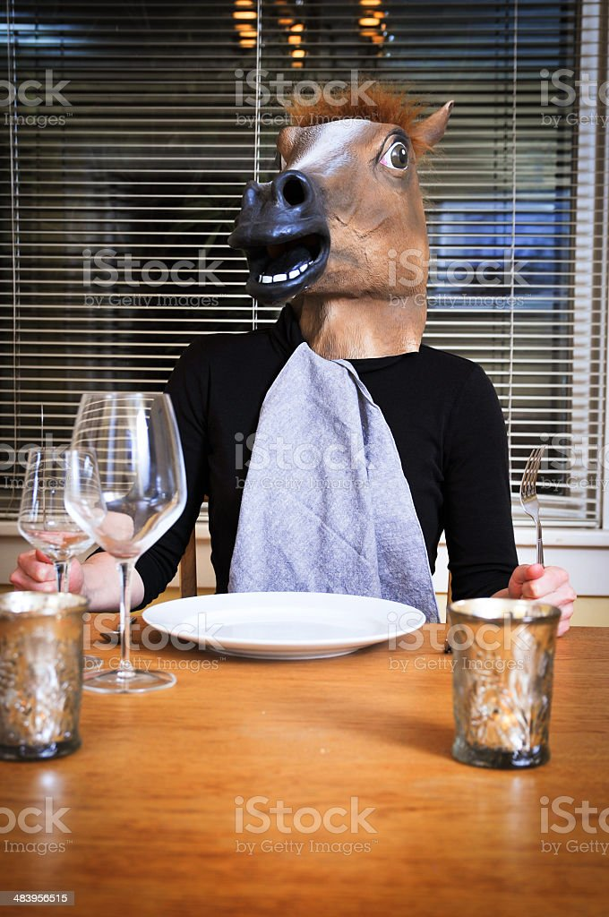 Jackass for dinner royalty-free stock photo