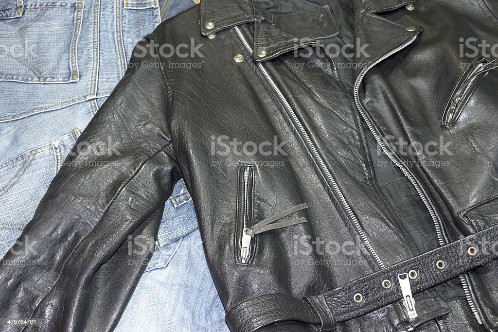 jacket and pants stock photo