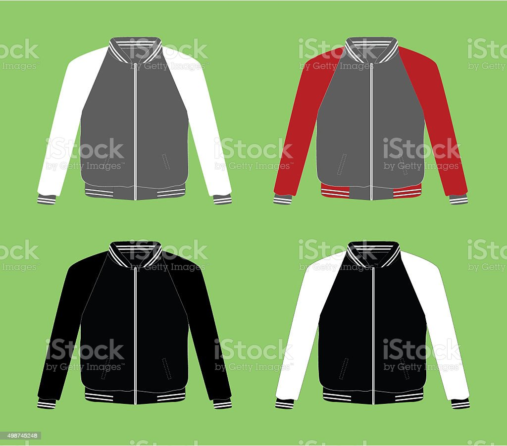 Jacket Template stock photo