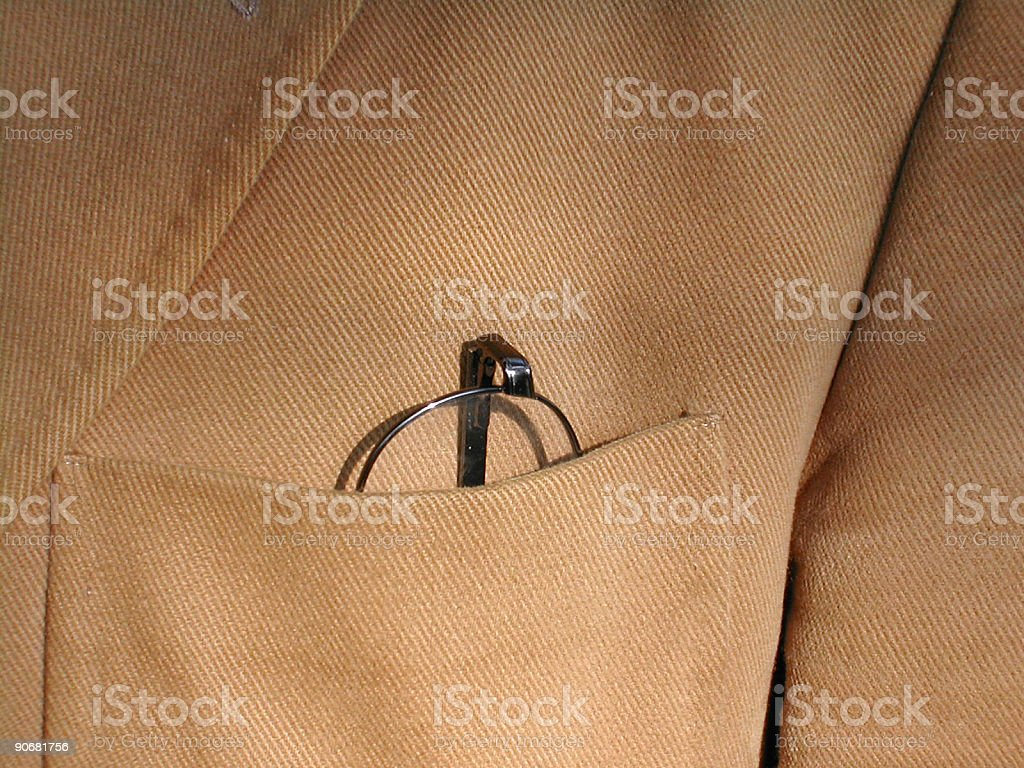 jacket with glasses royalty-free stock photo