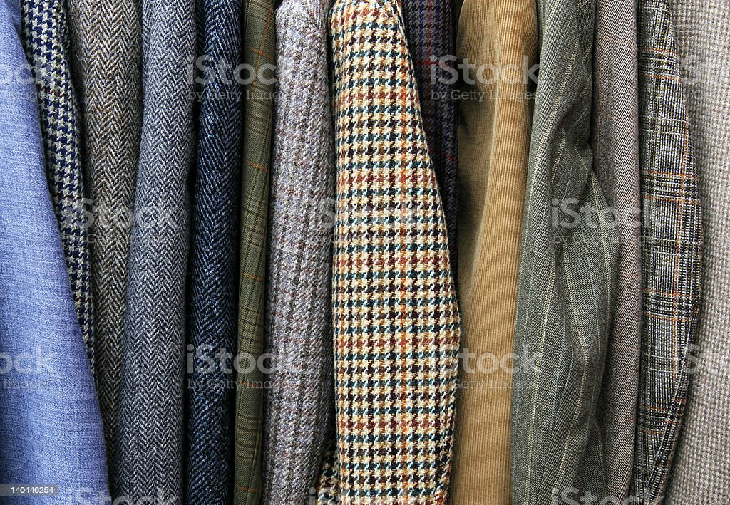 Jackets in shop royalty-free stock photo