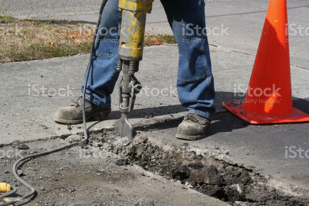Jackhammer At Work royalty-free stock photo