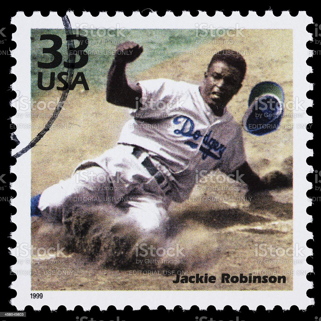 USA Jackie Robinson postage stamp stock photo