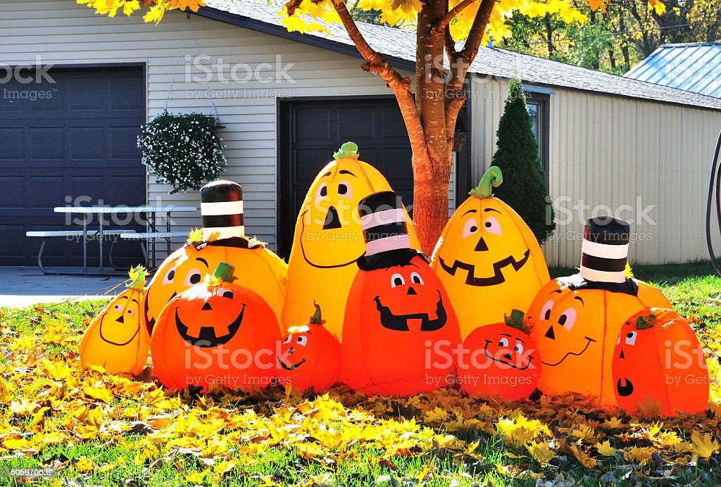 Jack-O-Lantern Family stock photo