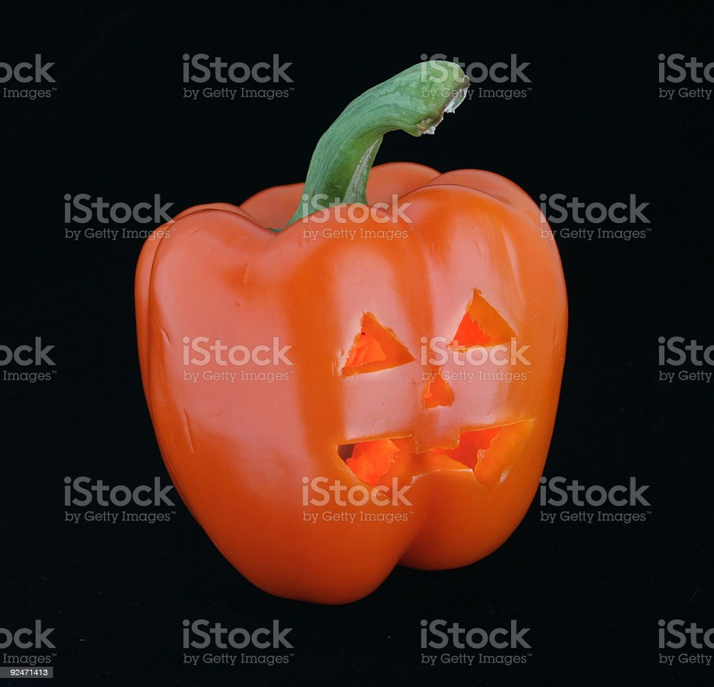 Jack-O-Pepper royalty-free stock photo