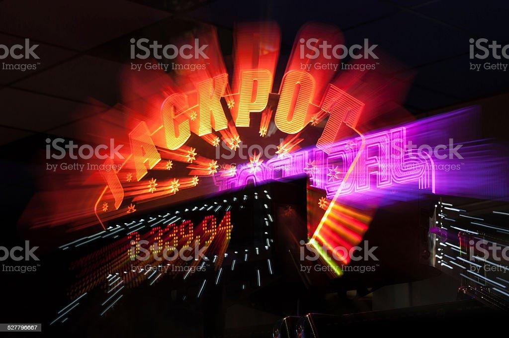 Jackpot winner sign from casino stock photo
