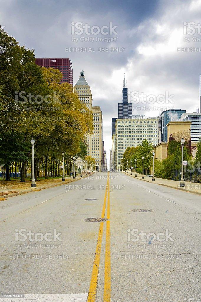 Jackson Boulevard in Chicago stock photo