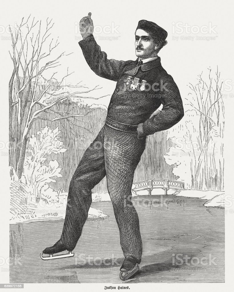 Jackson Haines (1840-1879) - the father of modern figure skating stock photo