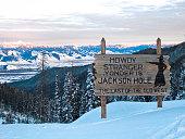Jackson Hole Sign- Winter
