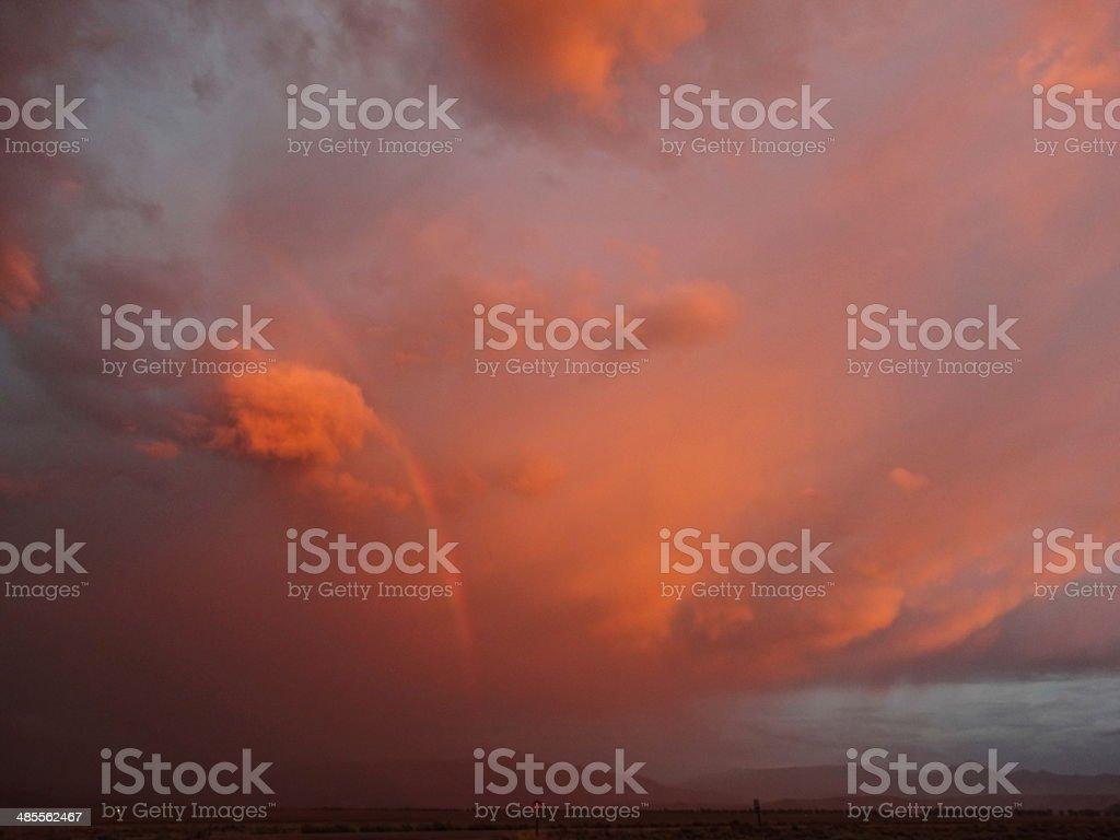 Jackson Hole Wild Sunset stock photo