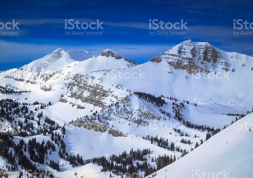Jackson Hole, Wyoming Winter stock photo