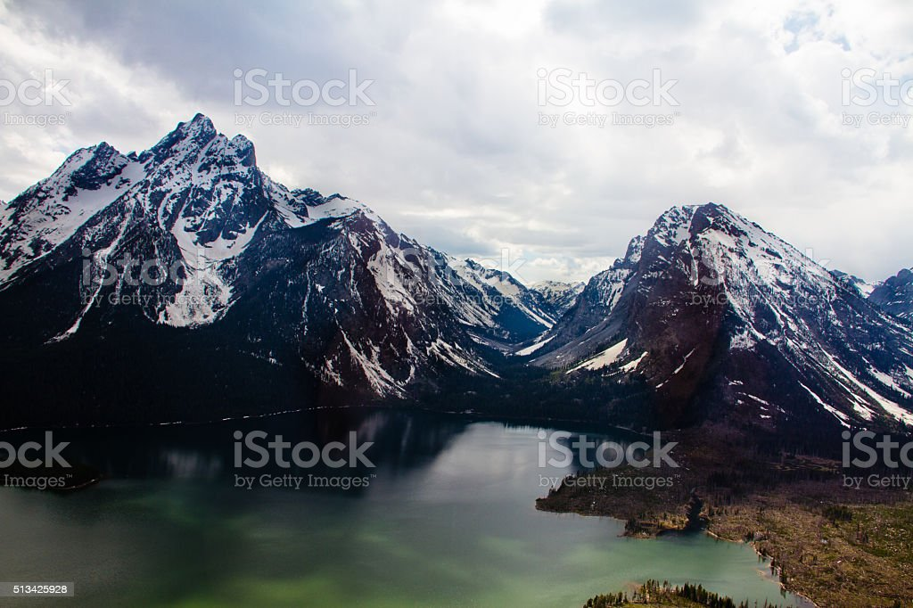 Jackson Lake From Above II stock photo