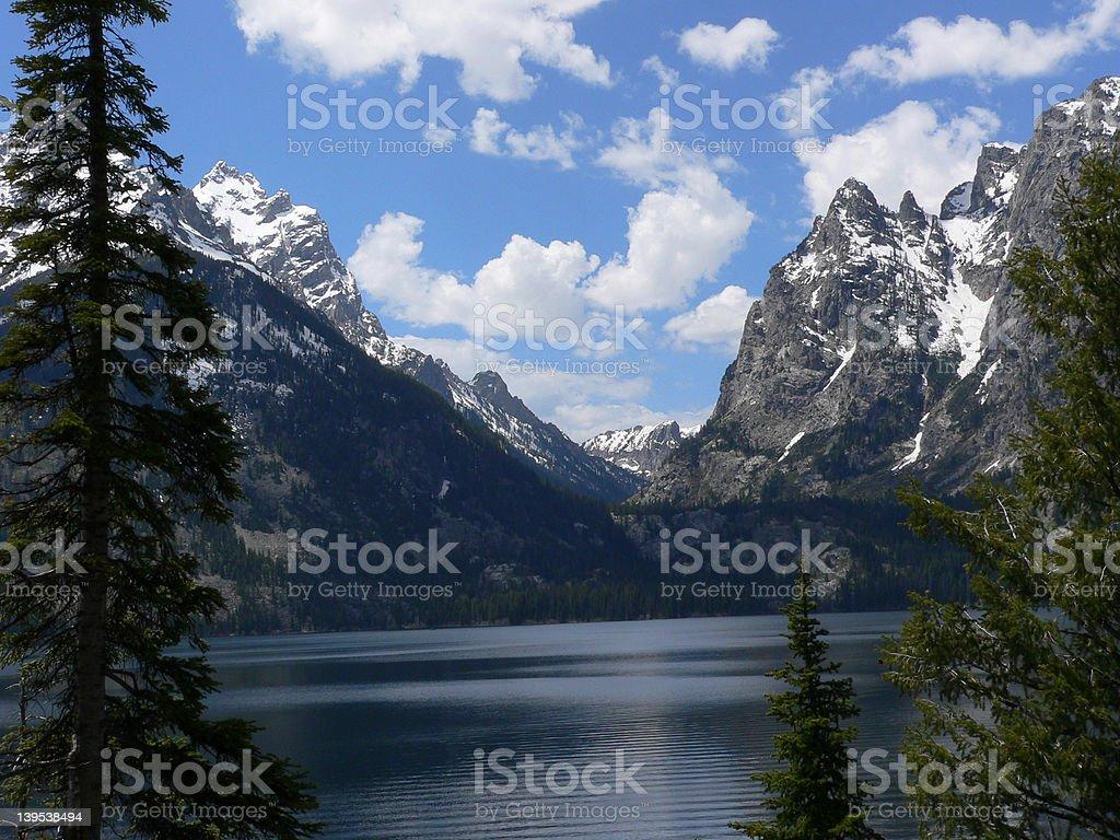 Jackson Lake, Grand Teton royalty-free stock photo