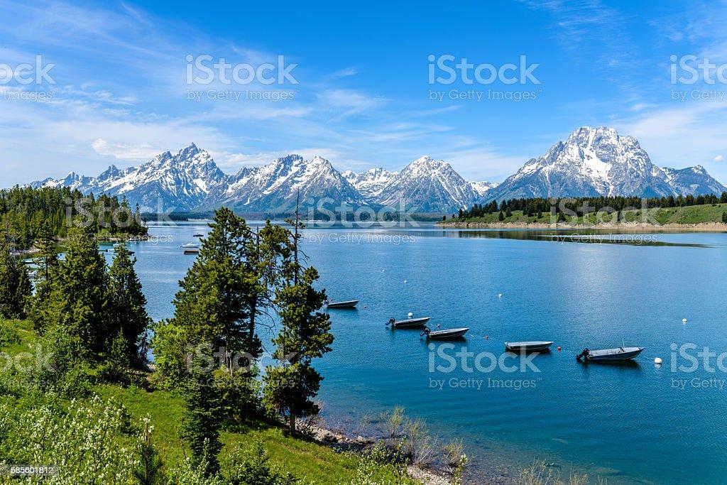 Jackson Lake stock photo