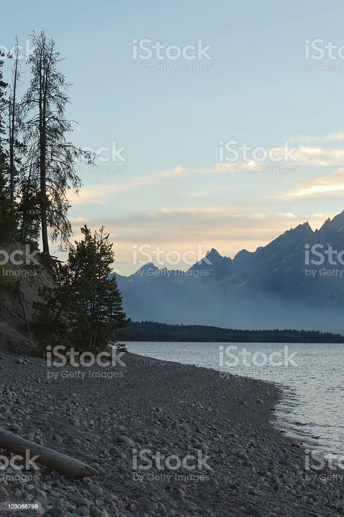 Jackson Lake Sunset royalty-free stock photo