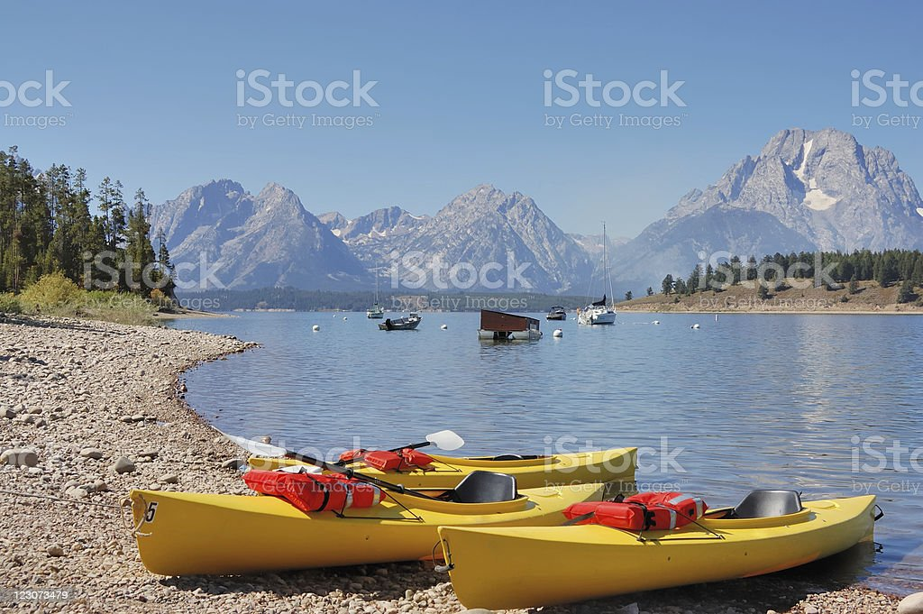Jackson Lake, Wyoming stock photo