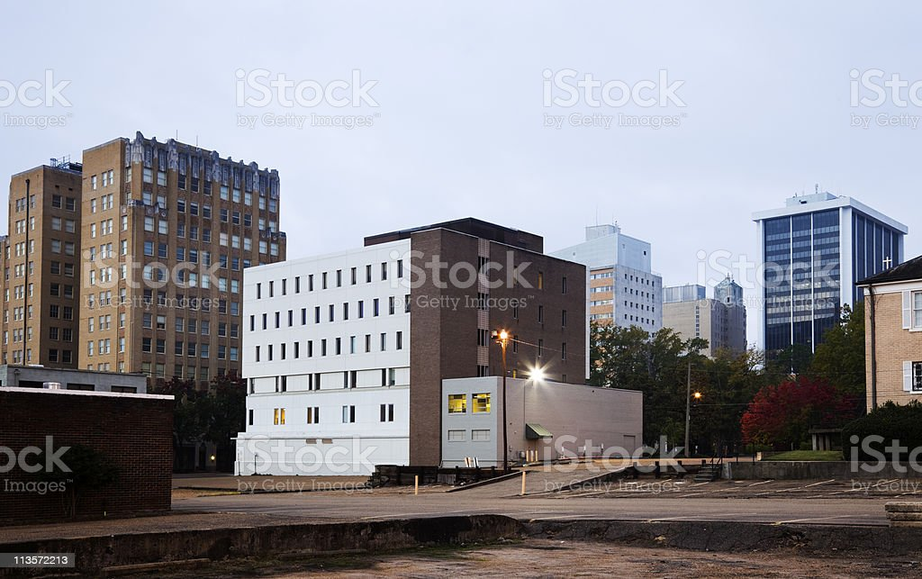Jackson, Mississippi - architecture of downtown stock photo
