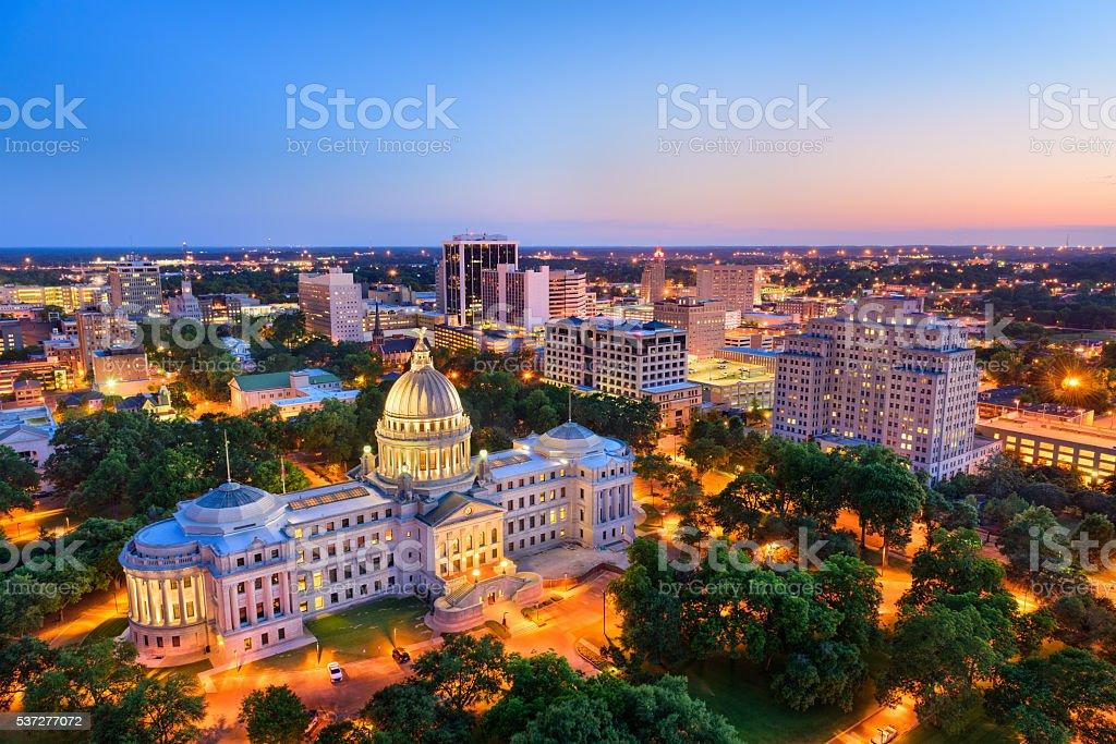 Jackson Mississippi Skyline stock photo