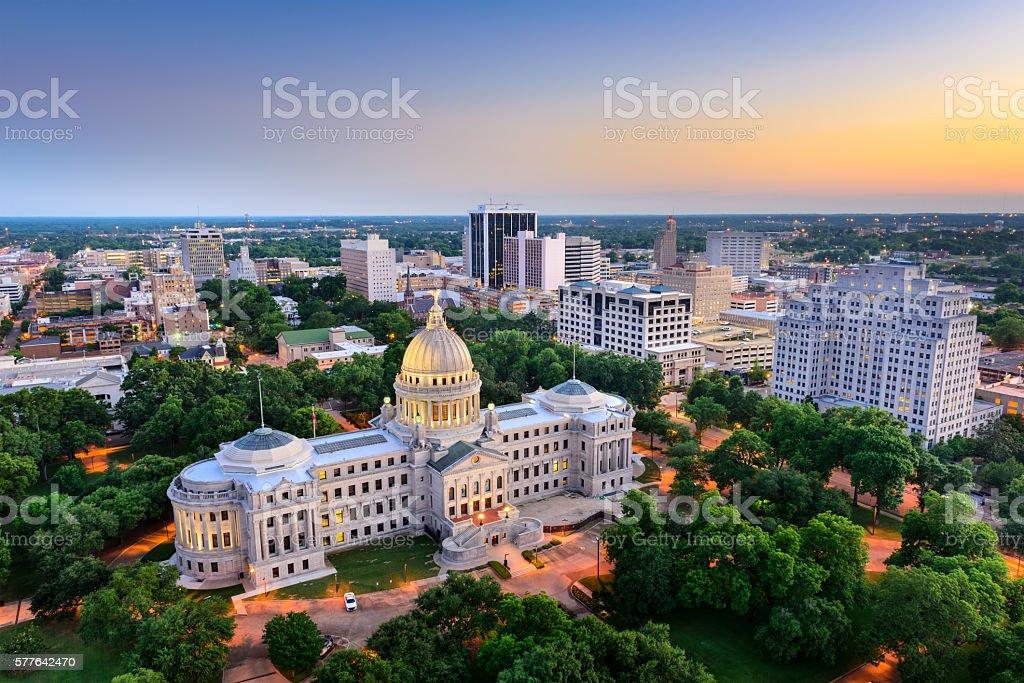 Jackson, Mississippi Skyline stock photo