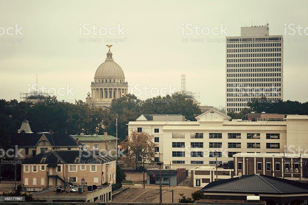 Jackson, Mississippi - vintage panorama stock photo