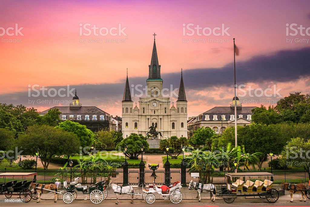 Jackson Square New Orleans stock photo