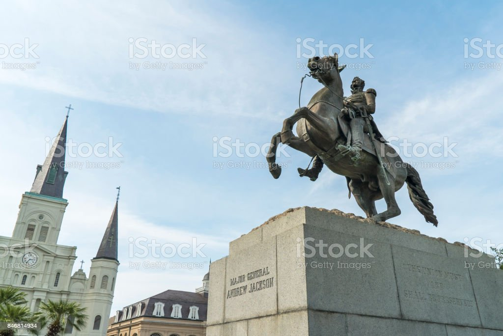 Jackson Square New Orleans Statue stock photo