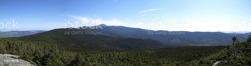 Jackson Summit View of Southern Presidentials (Pano) stock photo