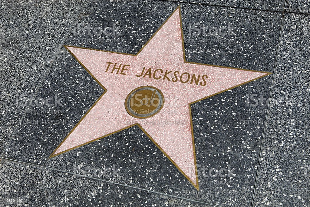 Jacksons Star on the Hollywood Walk of Fame stock photo