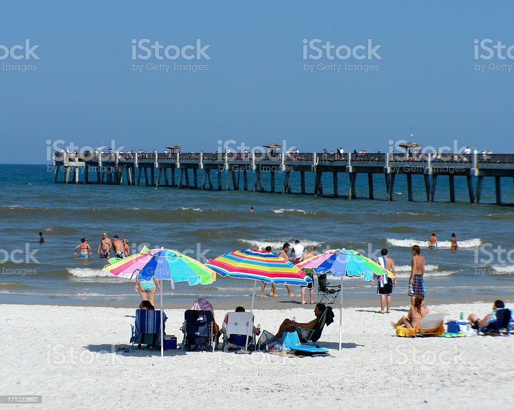 Jacksonville Beach, Florida Pier stock photo